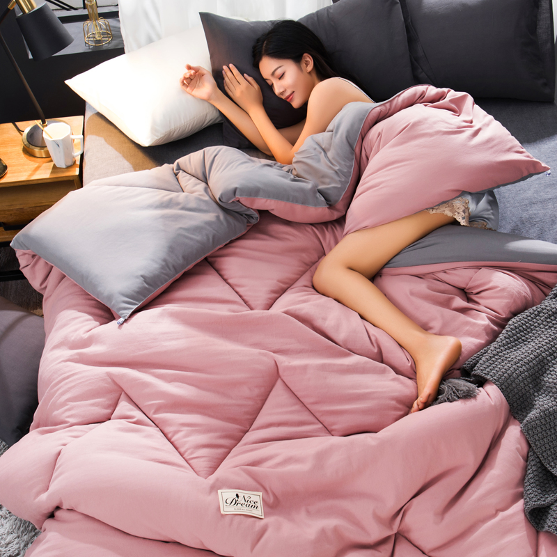 Pure Color Duvet Comforter Filled Down Quilt Premium All Seasons Comforter Blanket Cheap High Quality Bedding Filler 1-4KG Weigh