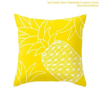 Home Textile Ins Style Pillow Bolster Geometric Print Yellow Soft Bedroom Seat Chair Sofa Car Square image