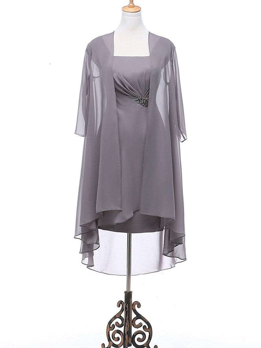 Chaude 2019 Satin bateau cou sans manches Mini mère de la mariée robes avec à lacets portefeuille retour livraison gratuite