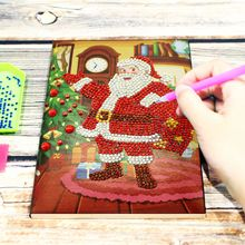 Christmas Gift 5d Diy Diamond Notebook Special Shape Painting A5 Diary Embroidery Sale