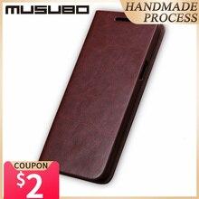 Musuo luxo capa de couro para samsung galaxy s20 s10 s9 plus s8 s7 borda nota 10 9 embalagem flip carteira cartão solt capa