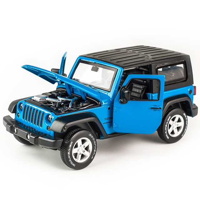1:32 Jeep Wrangler Rubicon Alloy Model Car Diecasts Metal Toy Off-road Vehicles Model Collection High Simulation Kids Toy Gift 6