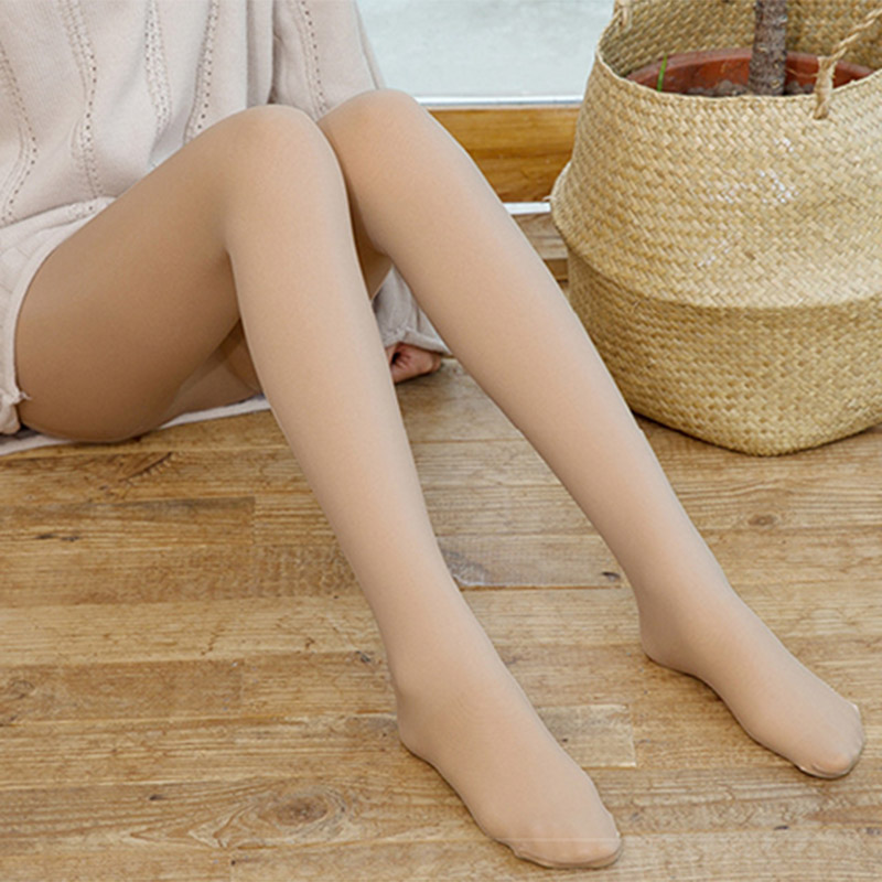 Vetement Femme 2020 Legs Fake Translucent Fleece Lined Slim Stretchy Warm Leggings For Winter Outdoor Leggins Mujer