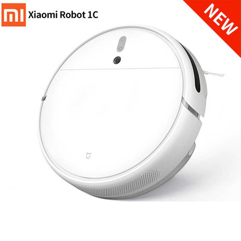 Xiaomi Mijia 1C Mi Robot Vacuum Cleaner Menyapu Mengepel Tangki Air WIFI 2500 Pa Suction Direncanakan Ai Gambar Navigasi Debu bersih