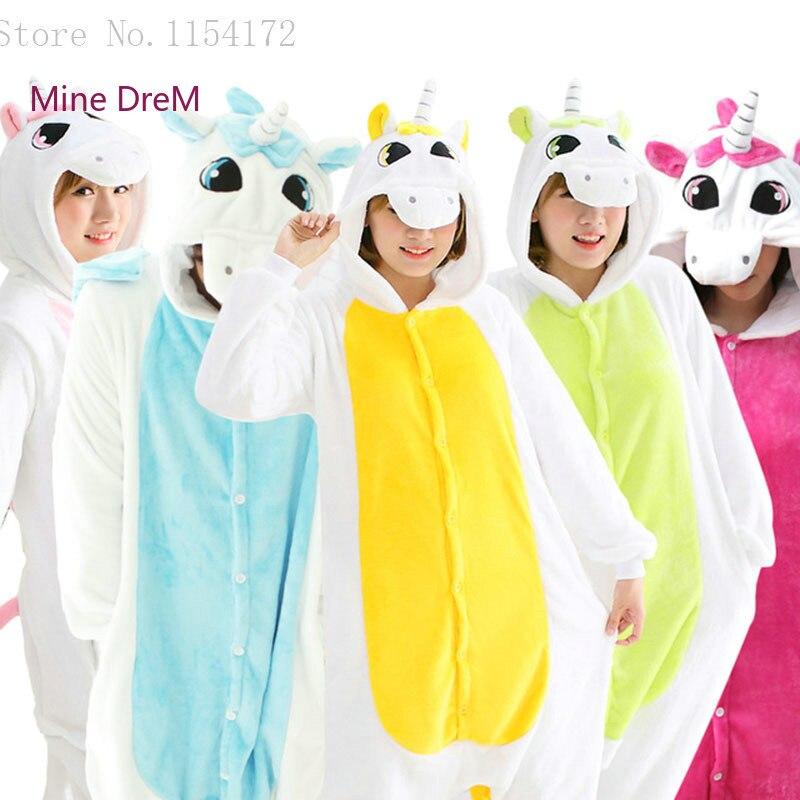 Kigurumi Unicorn Cosplay Onesies Pajama Carton Animal Onesies Pijama  Tenma Pyjamas Sleepwear Unicorn Halloween Party Cloths