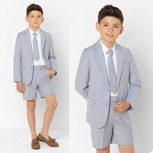 Spring Fashion Boy Formal Suits Dinner Tuxedos Little Boy Groomsmen Kids Children For Wedding Party Prom Suit Formal Wear 2 pcs