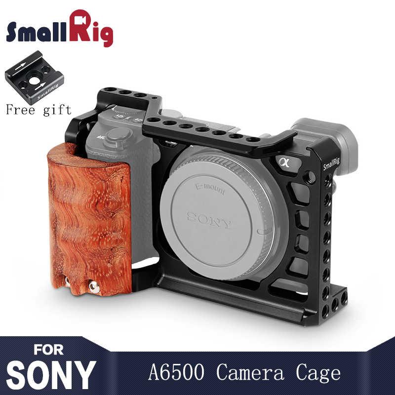 Kit de jaula de cámara SmallRig 6500 para cámara Sony A6500 con soporte de mango de madera con estabilizador de jaula A6500 2097