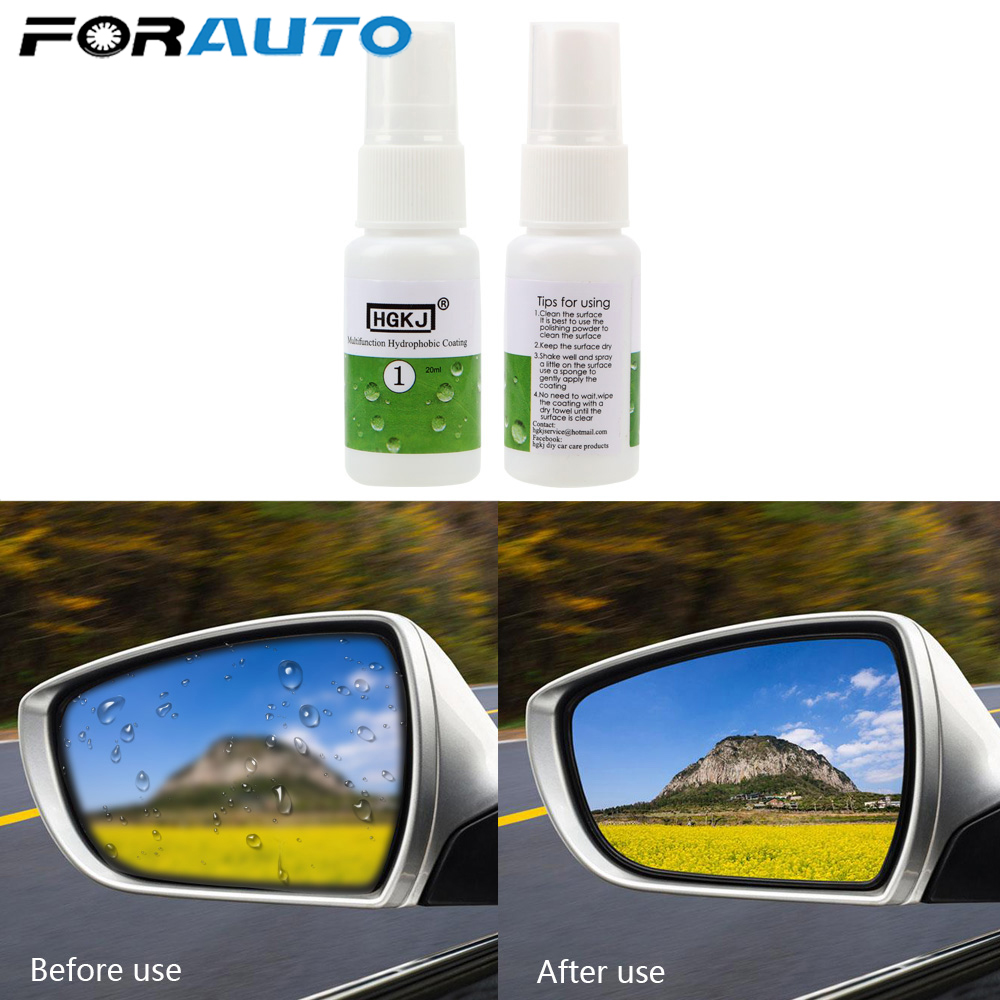 FORAUTO <font><b>20ML</b></font> For <font><b>Car</b></font> Window <font><b>Glass</b></font> <font><b>Glass</b></font> <font><b>Nano</b></font> <font><b>Hydrophobic</b></font> Coating Waterproof Agent Ceramic <font><b>Glass</b></font> Cleaning <font><b>Car</b></font> Accessories HGKJ-1 image