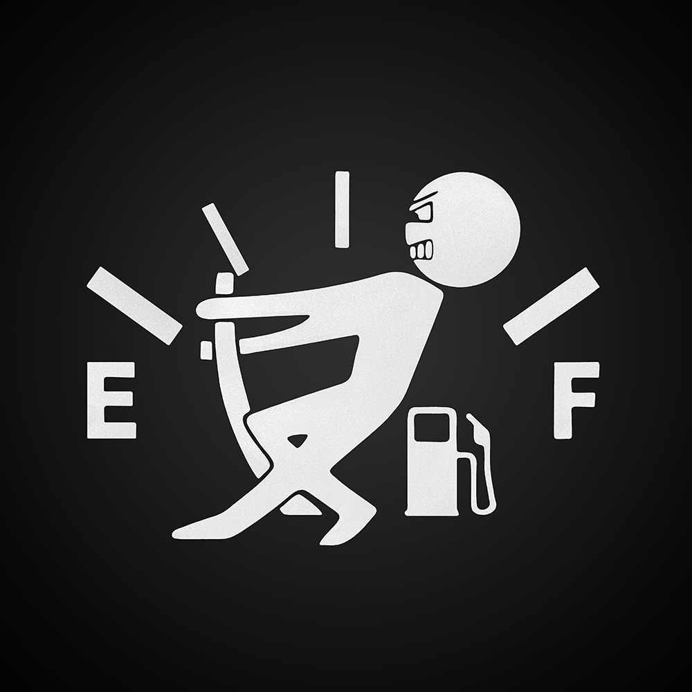 Funny Car Stickers Decal Fuel Gage Empty for mazda 3 seat ibiza honda civic 2006-2011 seat leon toyota corolla 2008 ford focus 3