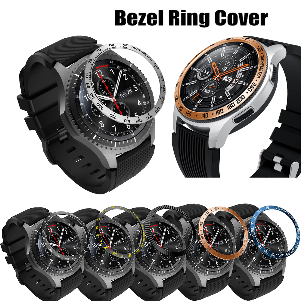 Metal bezel Styling for samsung Gear S3 Frontier/Classic galaxy watch 46mm sport Cover Frame watch Accessories 22mm rings