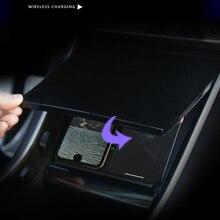 Auto Gemonteerd Draadloze Telefoon Oplader Snelle Automatische USB Handig Intelligente Eenvoudige Bediening Dual Link Voor Tesla Model 3