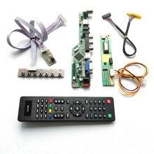 Dla LTN150XB L01/L02/L03 VGA HDMI AV USB RF pilot zdalnego sterowania + falownik + klawiatura 1CCFL 30Pin LVDS wyświetlacz LCD T.V56 płyta kontrolera zestaw do samodzielnego montażu