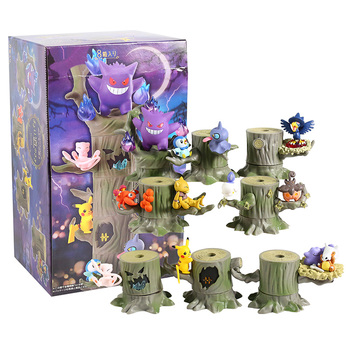 Monster Forest 2 Vol.3 Gengar Mew Ditto Cubone Litwick Pumpkaboo Paras Abra Piplup Shuppet Murkrow PVC Figures Toys 8pcs/set image