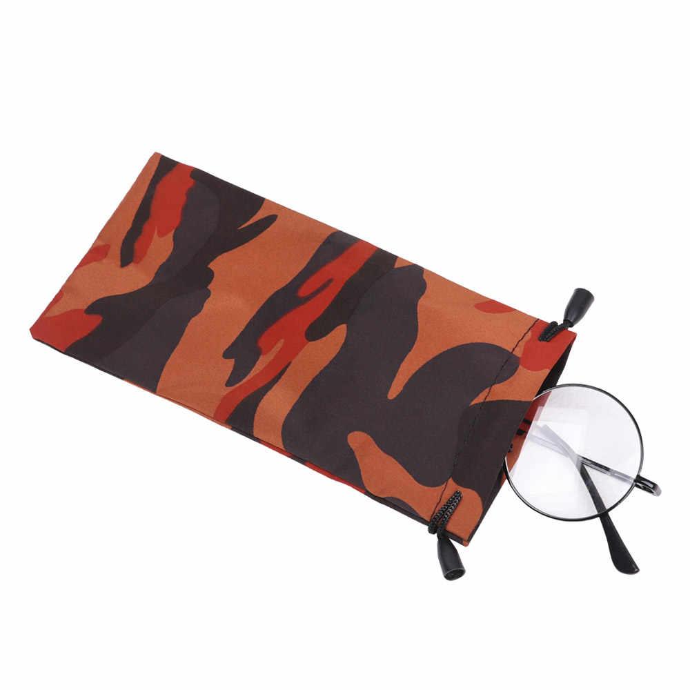 2 pçs camuflagem óculos de leitura bolsa óculos sacos de pano recipiente titular protetor scratch-proof portátil eyewear acessórios