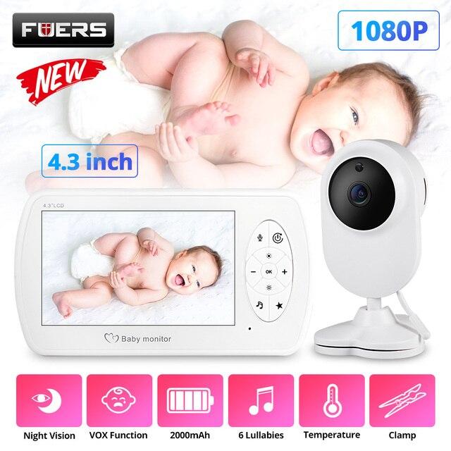 4.3 אינץ בייבי מוניטור אלחוטי צבע מסך דו כיוונית אודיו תינוק מצלמה טמפרטורת זיהוי ביטחון מטפלת מצלמה ראיית לילה
