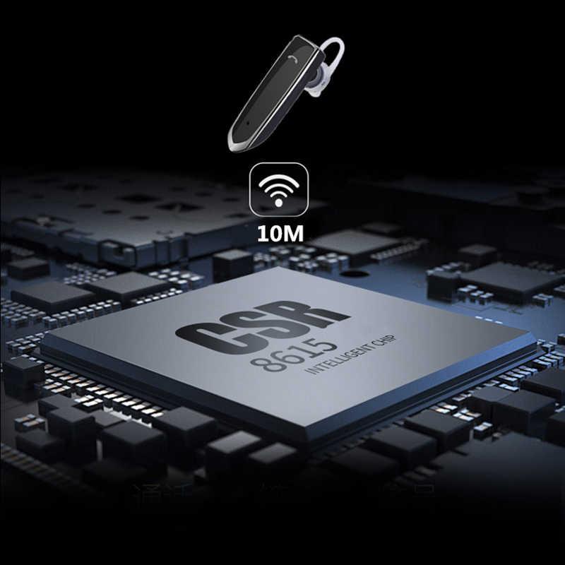 Auriculares inalámbricos de negocios ANRY Bluetooth auriculares manos libres con micrófono para oficina/negocios/entrenamiento/conductor/camionero