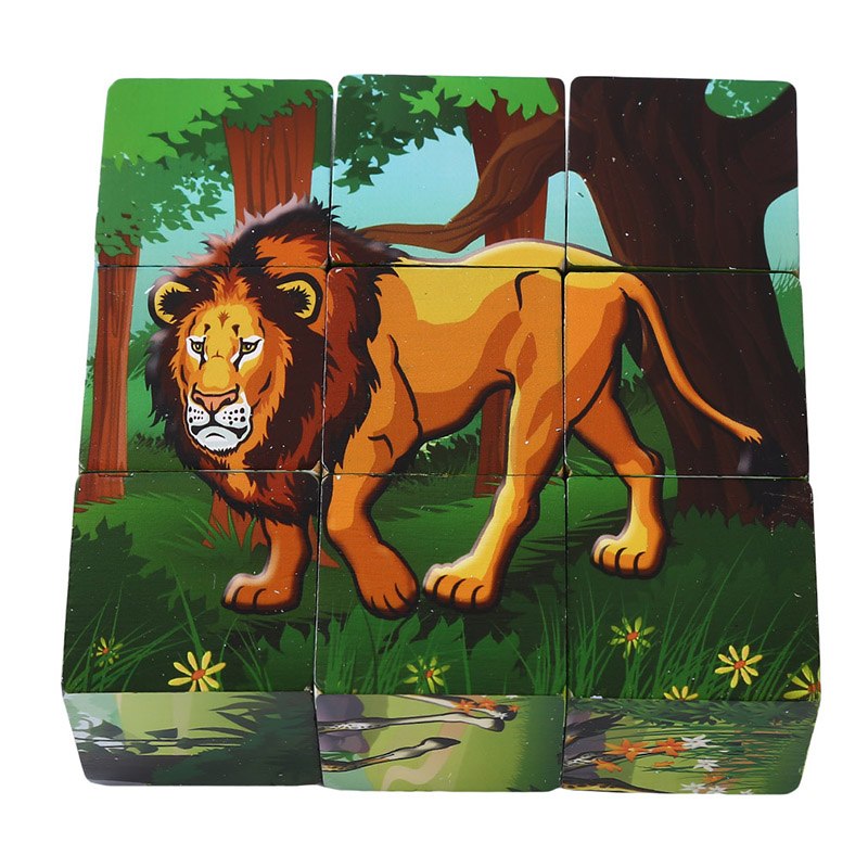 3D Wooden Puzzle Games Learning Educational Toys For Children Cartoon Animal Wooden Jigsaw Puzzle Popular Toy