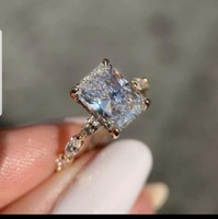 Customized items Classic 2 carat Moissanite ring Wedding ring Engagement 585 ring
