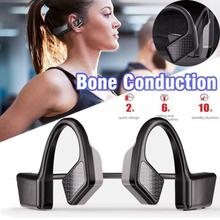 K08 Wireless Open-ear Sports Earphones Bluetooth 5.0 Headphones Bone Conduction Headset with Mic Handsfree for iPhone Android mix8 open ear bone conduction bluetooth v4 1 headset outdoor sports wireless bluetooth headset head mounted headphones