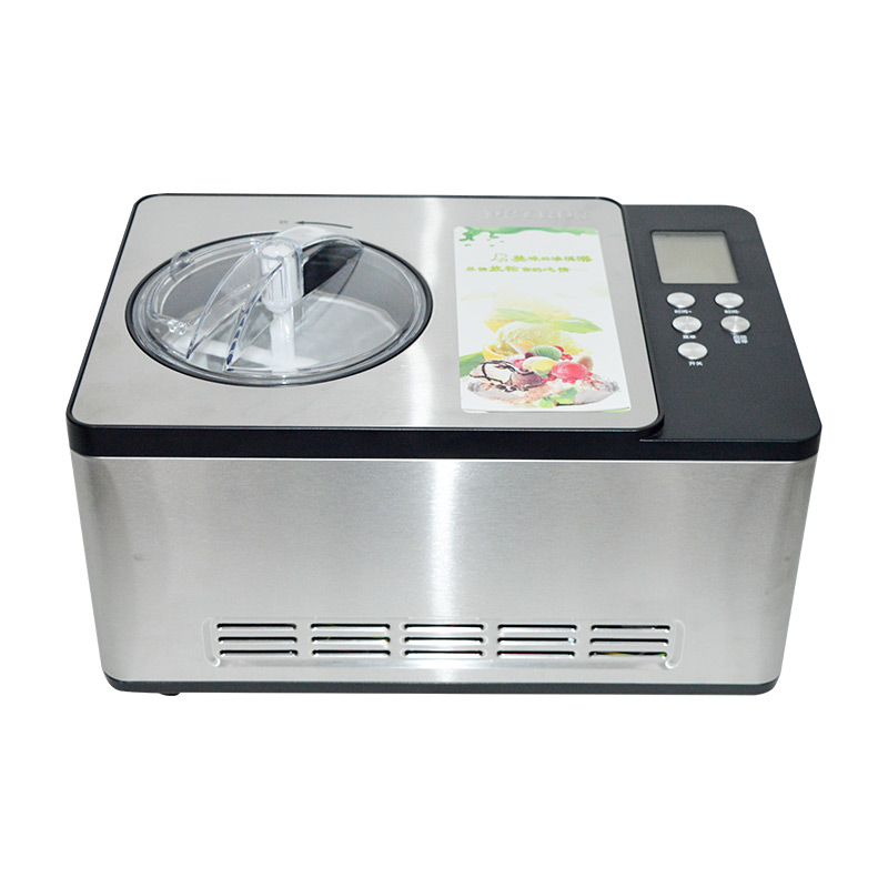 YUNLINLI Full Automatic Household 1.5L Ice Cream Maker for Quick Refrigeration made of Stainless Steel with One Button Operation and Removable Barrel 5