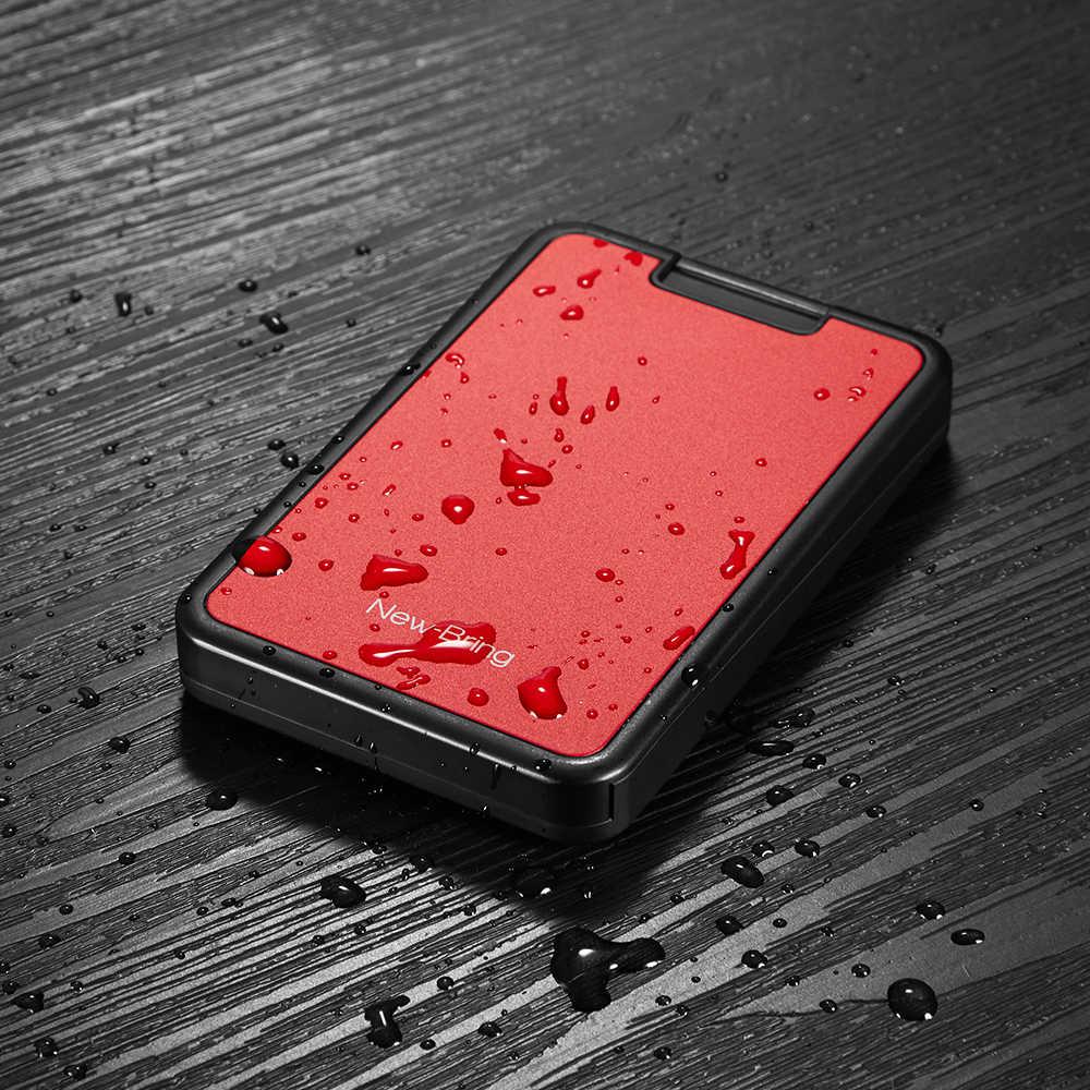 NewBring titular de la tarjeta RFID Bloqueo de cartera de tarjetero de plástico dinero caso monedero de fibra de carbono para los hombres las mujeres hombre mujer