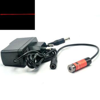 цена на Focusable 650nm 660nm 50mW Red Laser Line Diode Module w / 5V AC Adapter US/EU/UK/AU
