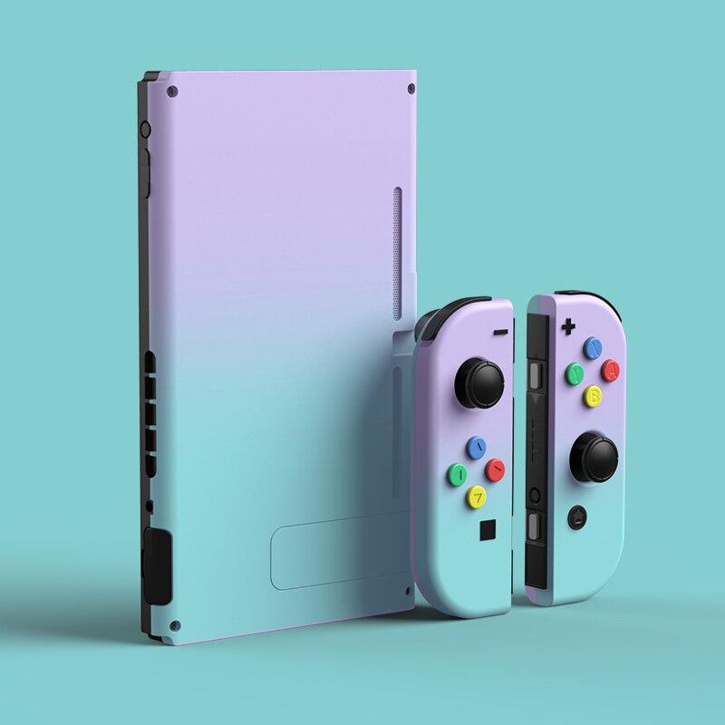 Nowy Joy Con powłoki gradient futerał ochronny radość Con kontroler sztywna obudowa pełna obudowa dla przełącznik do nintendo konsola do gier
