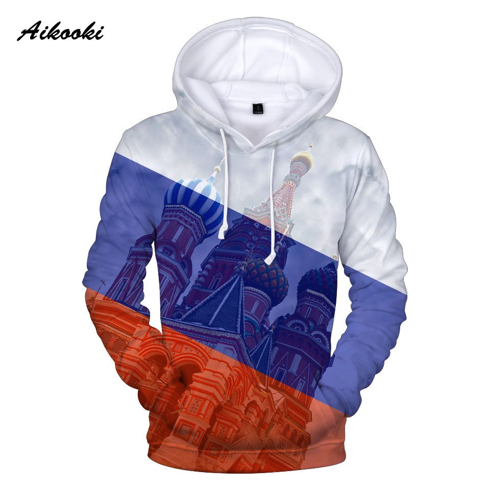 Russian Flag 3D Hoodies Men/women/kids Hot Sale Classic Print Sweatshirt Print Russian Flag Kremlin 3D Hoody Casual Top