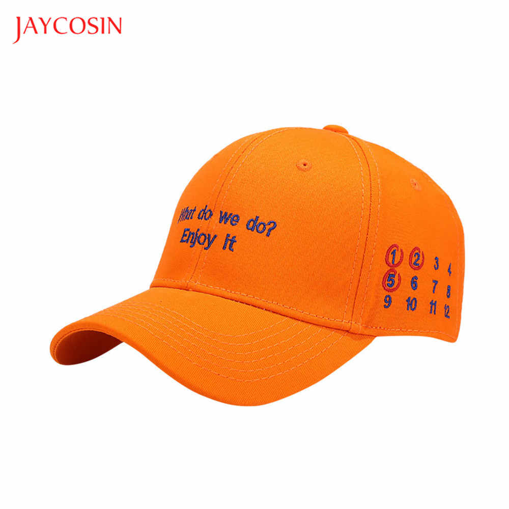 Boné de beisebol bordado unisex hip hop curvado strapback chapéu de sol jaycosin novo snapback homem mulher boné