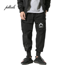 Guo-Chao Tang 2019 Hot Autumn Hipster Big Pocket Streamer Male Harlan Pants Loose Hip-hop Print Streetwear Men Smallfoot
