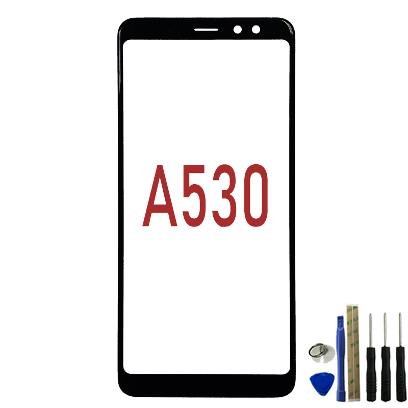 Outer Lens For Samsung Galaxy A8 2018 A530 Glass Front Screen Panel LCD Glass Replacement With TOOLS
