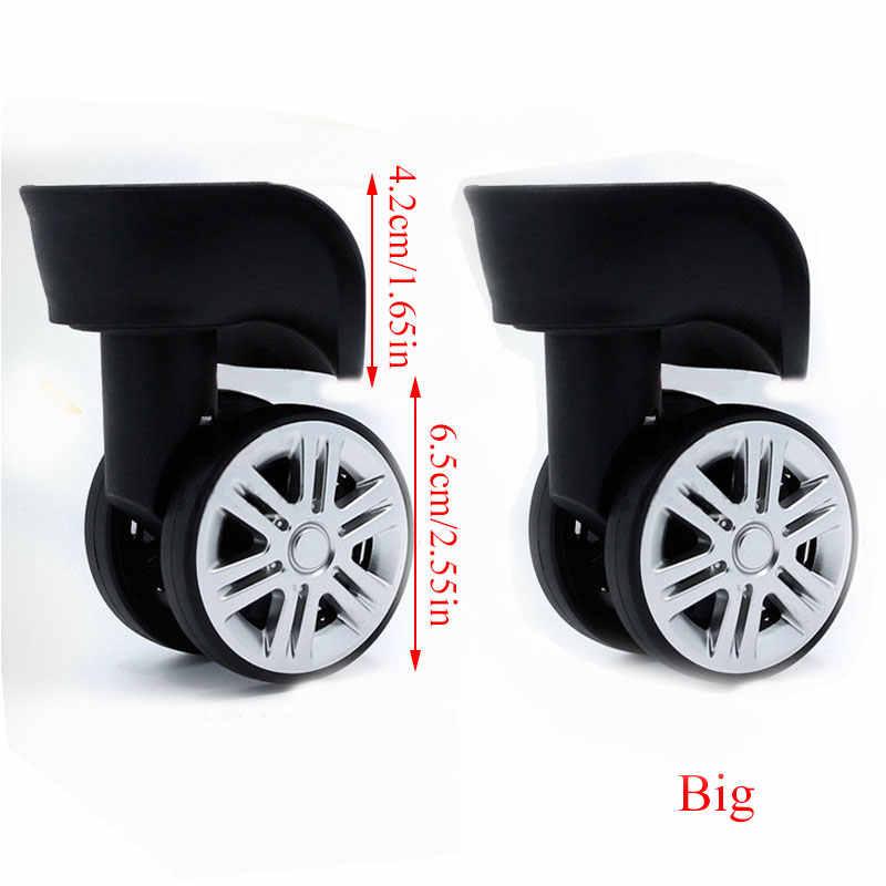 1 par a08 substituição rodas de bagagem para malas reparação mão spinner rodízio rodas peças rodas de borracha substituição do trole