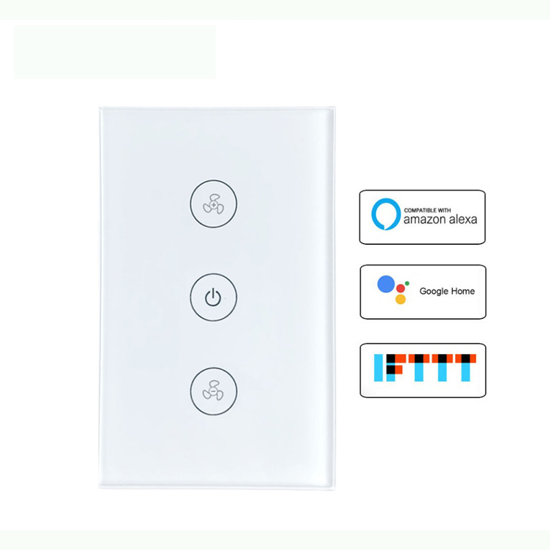 Mini Wifi Smart Wall Touch Switch EU Power Mobile APP Remote Control Works Amazon Alexa Google Home IFTTT 3 Gang No Hub Required
