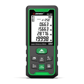 SNDWAY Green laser distance meter 50M 70M 100M rangefinder trena laser tape range finder build measure device electronic ruler