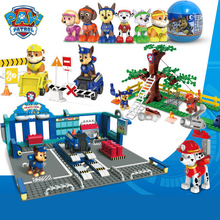 Brick Figure Block-Toys Model-Set Castle Marshall Paw Patrol Canina Skye Dog-Patrulla