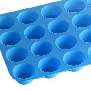 Image 5 - ミニマフィンカップ 24 穴シリコーン石鹸型耐熱皿ミニケーキパントレイ金型ホーム diy ケーキベーキングツール金型
