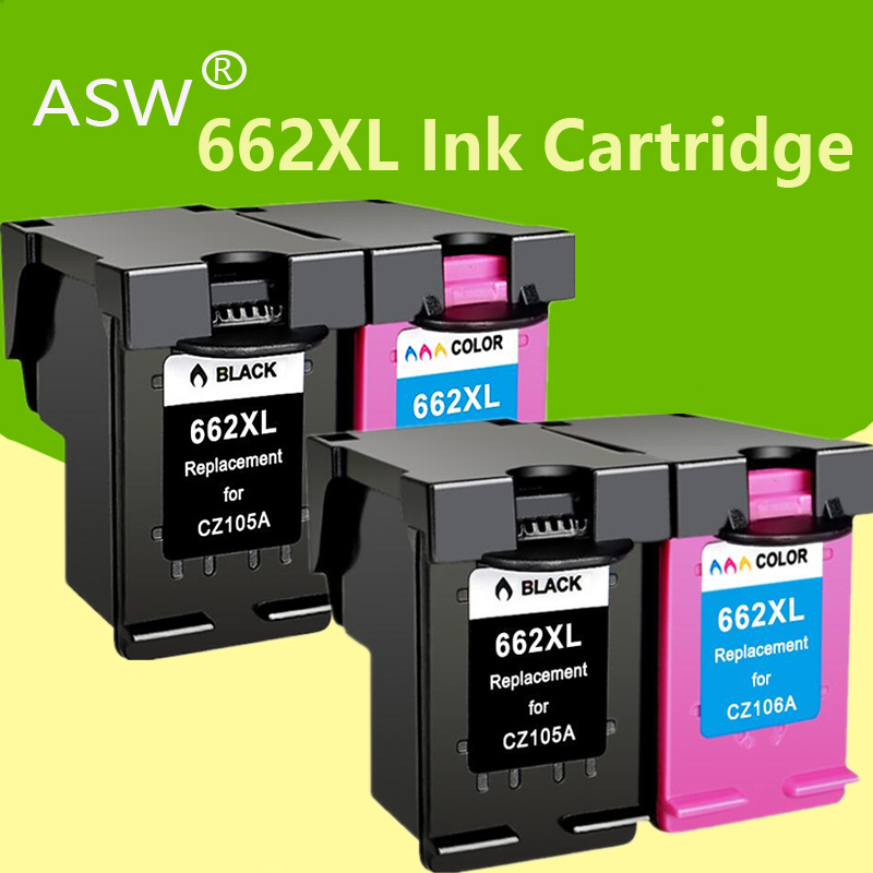 ASW 662 Replacement for HP662 <font><b>662XL</b></font> Ink Cartridge for <font><b>HP</b></font> Deskjet 1015 1515 2515 2545 2645 3545 4510 4515 4516 4518 printer image