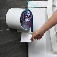 Wall montado Suporte Do Papel Higiénico Tecido Caixa de Dispensador De Papel Higiênico À Prova D' Água Para A Caixa de Armazenamento Do Banheiro Acessórios Do Banheiro|Suporte portátil p/ papel higiênico| |  -