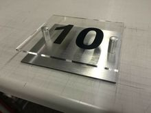 цена на Modern House Number Plaque Apartment number  Acrylic Sign With Brushed Effect Back. door number Door sign