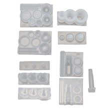 Handmade Mini Hollow Milk Bottles Cup Straw Silicone Resin Molds Craft Tools