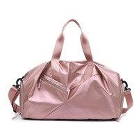 5 Color Glossy Yoga Mat Bag Fitness Gym Bags Dry Wet Tas Handbags For Women Men Shoes Travel Training sac De Sport gymtas Duffel