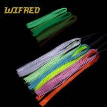 2 sacs vert jaune couleur lumineuse mouche attachant matériel EP Minnow fibre sombre lueur pêche mouches attachant crochet gabarits Sabiki bricolage Flash