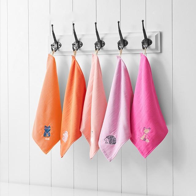 Cotton Towel 30*30cm 50g Cotton Square Towel Soft Gauze Children's Towel Multi-color Kindergarten Face Towel