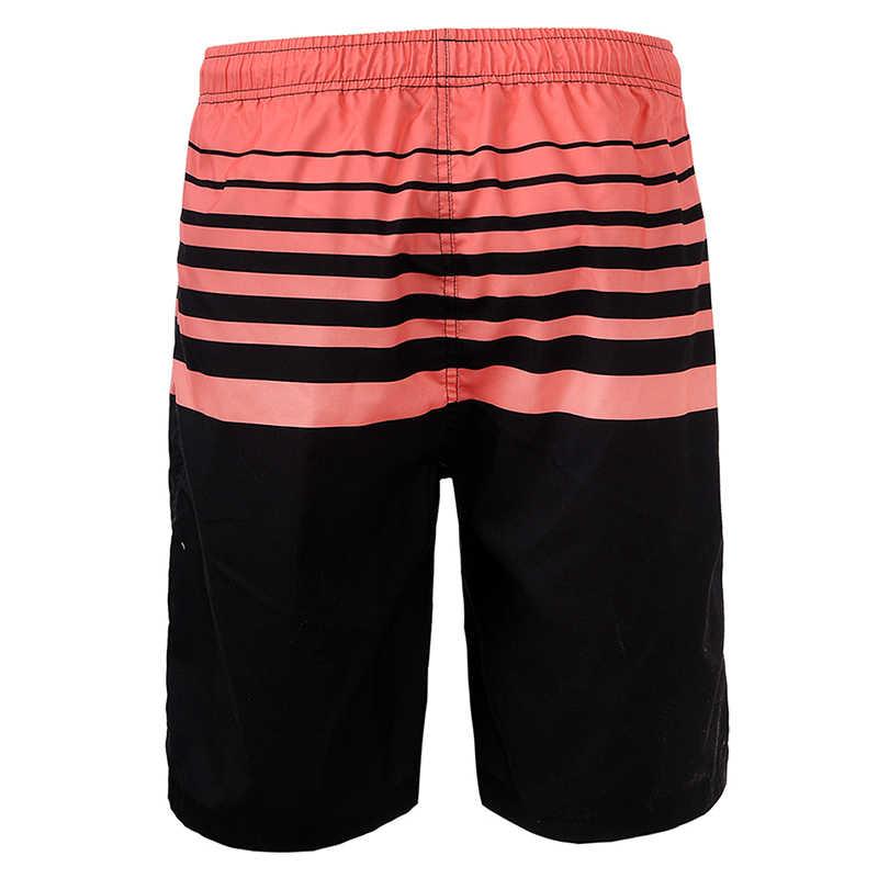 GLO-STORY Männer der Sommer Gestreiften Quick Dry Strand Shorts Männer 2018 Meer Urlaub Swimshort MTK-1753