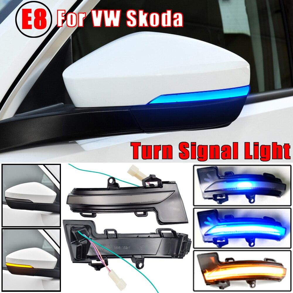 Para skoda octavia mk3 5e dinâmico led turn signal blinker espelho pisca luz 2014 2015 2016 2017 2018 2019