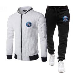 Brand Men Tracksuit 2 Pieces Sets Winter Jacket Casual Zipper Jackets Sportswear+Pants Sweatshirt Sports Suit Clothing