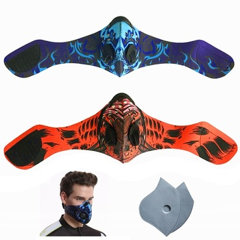 Fast Ship Men Women PM 2.5 Activated Carbon Dust Proof Cycling Face Masks Anti Pollution Mouth Bike Training Mask Face Shield
