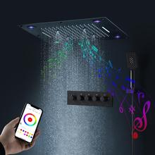 Shower-Head Bathroom Bluetooth LED Ce 24-Inches Playing Multi-Function Music Colorful