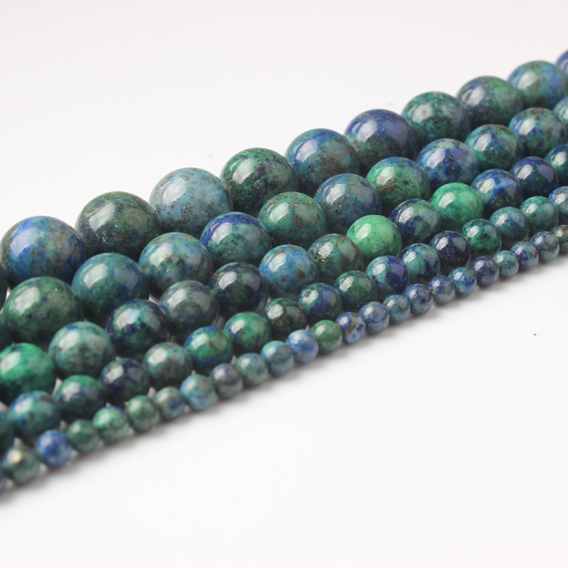 LanLi <font><b>4</b></font>/ 6/8/10/12mm Fashion Natural Phoenix Lapis lazuli Loose Stone Jewelry Beads be fit for <font><b>DIY</b></font> Bracelet Necklace image