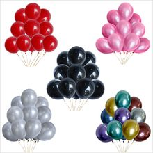 10/20/30Pcs Goud Zwart Metallic Latex Ballonnen Helium Verjaardagsfeestje Bruiloft Decoraties Metalen Ballons Kid Kind speelgoed Lucht Ballen(China)
